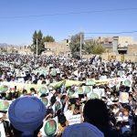 Демонстрации суннитов в Захедане порицающих оскорбление пророка Мухаммада «да благословит его Аллах и да приветствует»